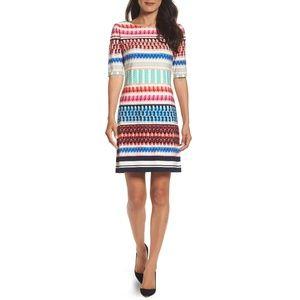 New ELIZA J Multi Color Shift Dress Size 8 nwot